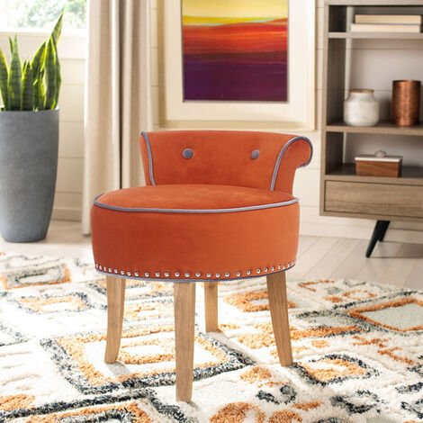 """main image of """"Vanity Dressing Table Stool Velvet Makeup Piano Chair Living Dining Room Bedroom Seat"""""""