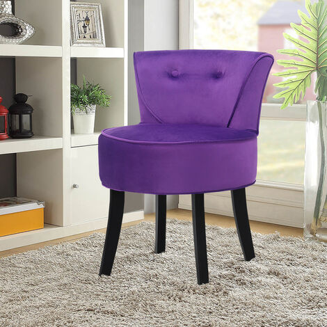 Vanity Dressing Table Stool Wooden Leg Makeup Chair Padded Seat Home Furniture