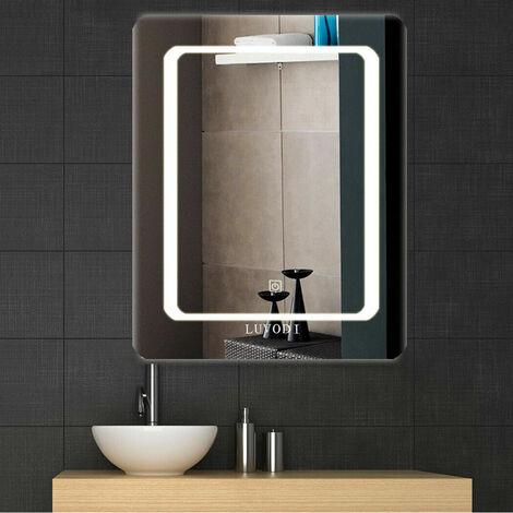 Vanity LED Illuminated Bathroom Mirror Wall Mount Cosmetic Lights 400mm x 500mm