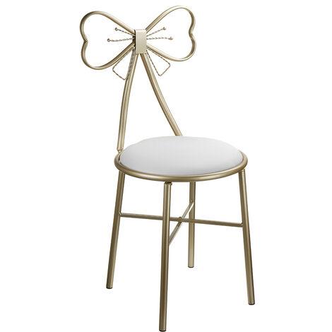 Vanity Stool Chair PU Leather