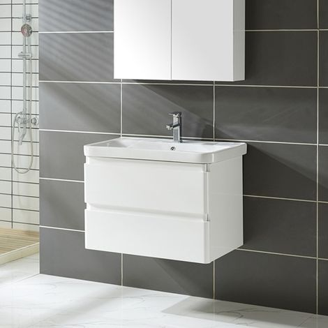 Vanity Unit 80CM MDF Wall VU02 White