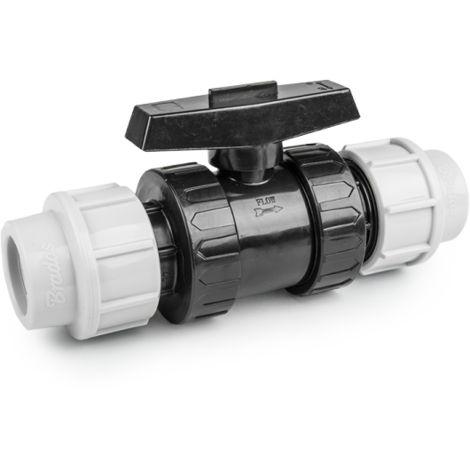 """main image of """"Vanne à sphère PN16 pour tuyaux PE 32 mm / PE 32 mm"""""""