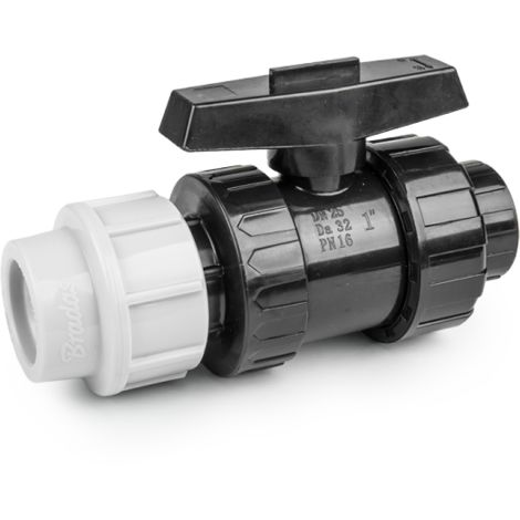"""main image of """"Vanne à sphère PN16 pour tuyaux PE 32mm / fileté 1 """" femelle"""""""