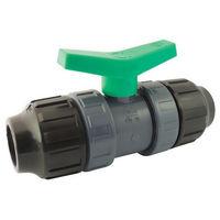Vanne à sphère pour tube PE PN10 avec raccordements à compression - 25mm
