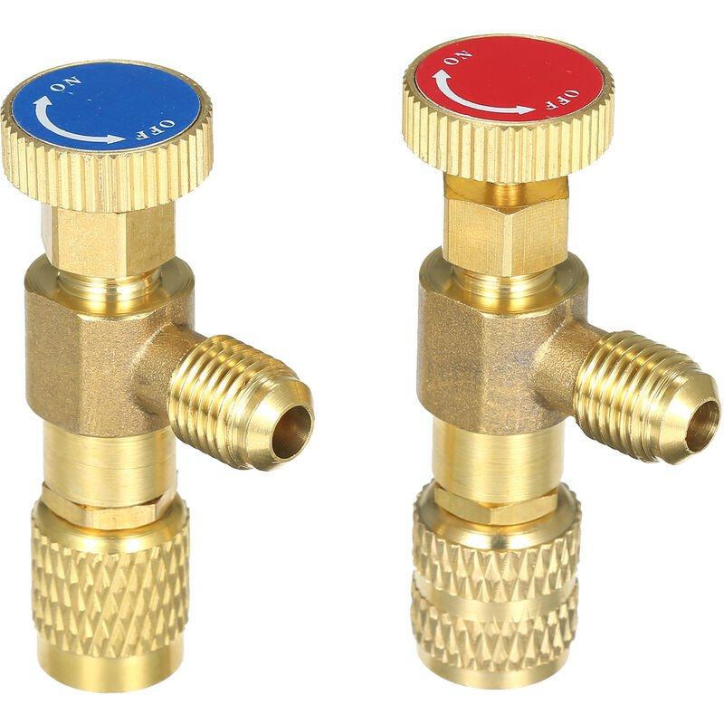 Vanne De Charge De Refrigerant R12 R410, Soupape De Securite De Liquide Refrigerant De Climatisation Vannes De Controle De Debit En Cuivre Soupape De