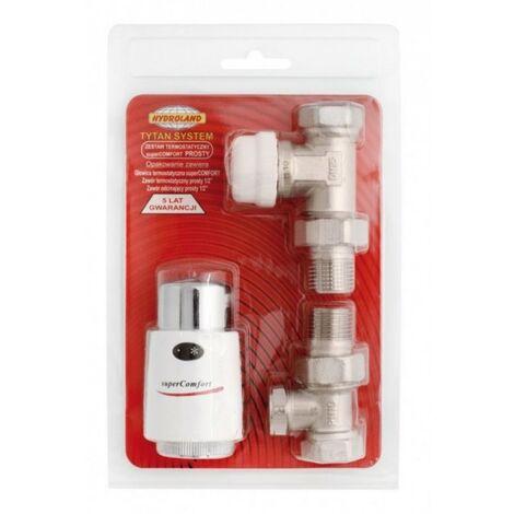 Vanne de radiateur thermostatique avec tête