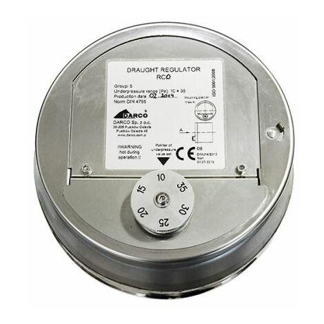Vanne de régulation de tirage cheminèe CE DN 200 inox