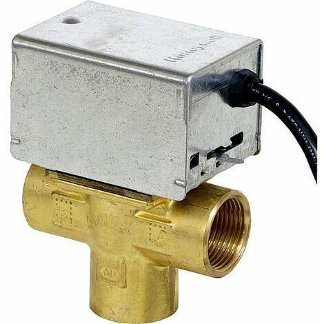 Vanne de zone 3 voies Honeywell V4044 C 1312 B, avec reglage manuel 1 - 230v 50 Hz, 6 W *B.G*