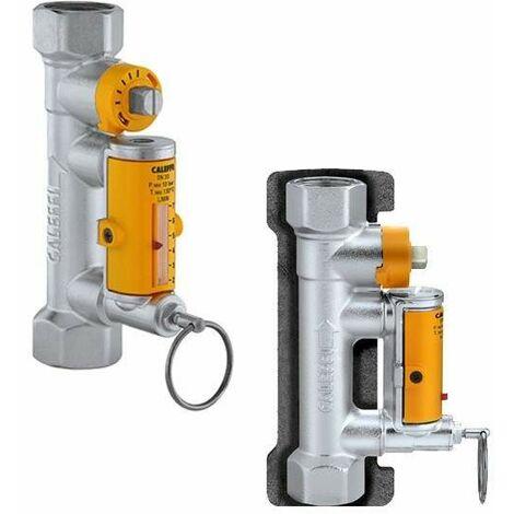 Vanne d'équilibrage avec débitmètre pour installations solaires Caleffi 258