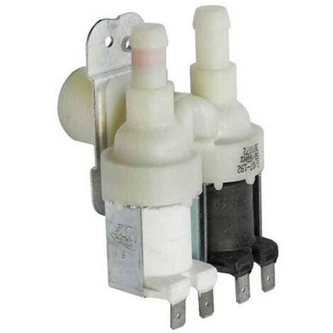 Vanne électrique 2 voies pour lave-linge Sortie 90º Bosch Siemens
