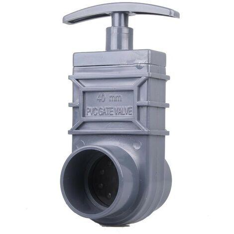 Vanne Guillotine PVC 40 mm pour bassin de jardin et étang
