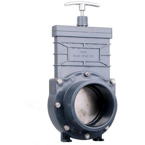 Vanne Guillotine PVC 90 mm pour bassins de jardin