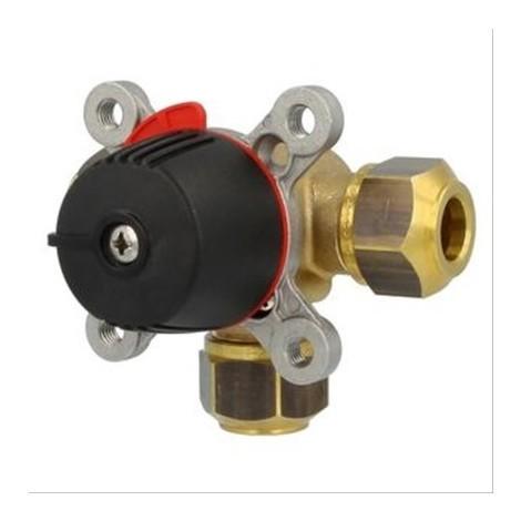 Vanne mélangeuse 3 voies Wipex à bague laiton Diam28mm - DN25mm - 6,3 Kvs