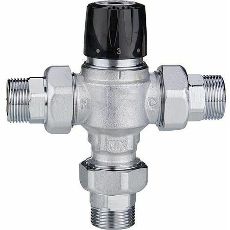 Vanne mélangeuse Easyflow Mix802 30-65°C, Kvs 5, DN32 (1 1/4``), mâle,rac.inclus