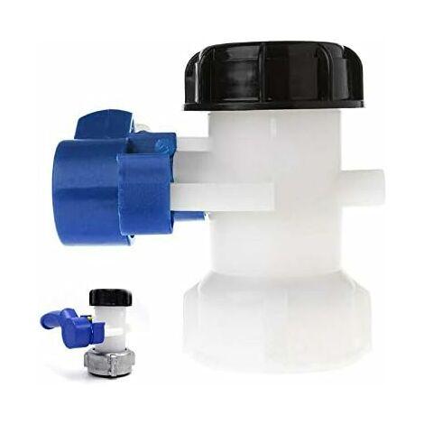 Vanne Papillon ND40/ND50 IBC Eau Réservoir avec écrou Flottant en Alliage Aluminium Remplacement S60x6 pour Réservoir Cuve 1000 litres IBC ( plastique 75mm)