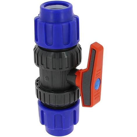 Vanne plastique 1/4 tour compression O32