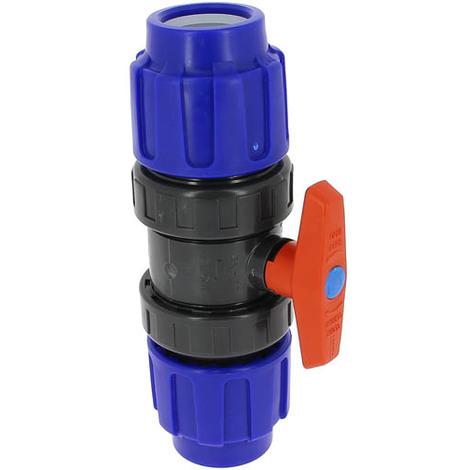 Vanne plastique 1/4 tour compression O40