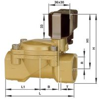 Vanne pneumatique à commande mécanique 2/2 voies Busch Jost 8240300.9101.02400 24 V/DC G 3/4 1 pc(s)