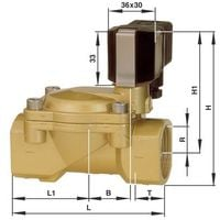Vanne pneumatique à commande mécanique 2/2 voies Busch Jost 8240600.9101.02400 24 V/DC G 1 1/2 1 pc(s)