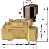 Vanne pneumatique à commande mécanique 2/2 voies S69297