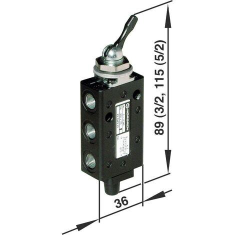 Vanne pneumatique à commande mécanique 3/2 voies Norgren 03040302 G 1/8 Matériau du boîtier aluminium 1 pc(s) S69242