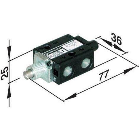 Vanne pneumatique à commande mécanique 3/2 voies Norgren SP/M1553/14 Matériau du boîtier plastique Matériau isolant NBR