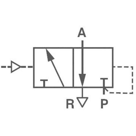 Vanne pneumatique à commande mécanique 3/2 voies Norgren V50A4D3A-XA090 24 V/DC G 1/8 Matériau du boîtier aluminium Mat