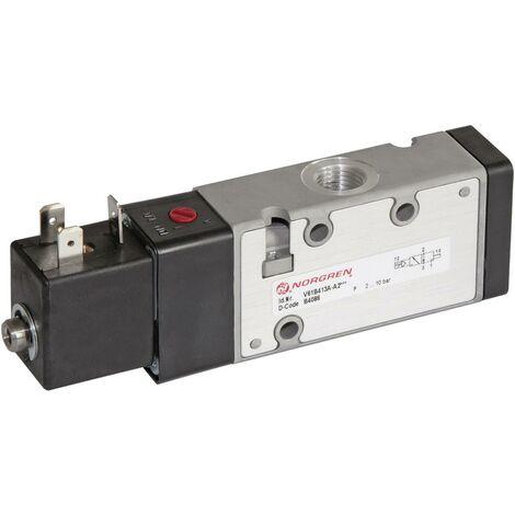 Vanne pneumatique à commande mécanique 3/2 voies Norgren V61B413A-A213L 24 V/DC G 1/4 Matériau du boîtier aluminium Matériau isolant NBR position S67188