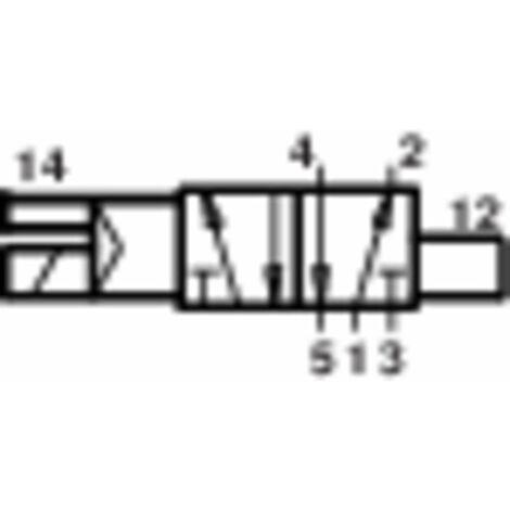 Vanne pneumatique à commande mécanique 5/2 voies Norgren V60A513A-A213L 24 V/DC G 1/8 Matériau du boîtier aluminium Mat