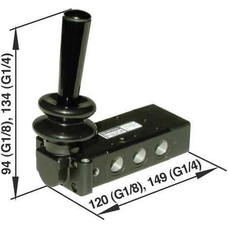 Vanne pneumatique à commande mécanique 5/2 voies Norgren X3067702 G 1/4 Matériau du boîtier aluminium 1 pc(s) S69393