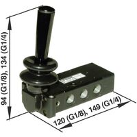 Vanne pneumatique à commande mécanique Norgren X3347802 G 1/8 Matériau du boîtier aluminium 1 pc(s)