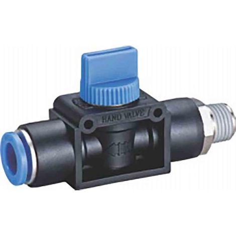 Vanne pneumatique manuelle Manuel Bleu 1/4pouce BSPT