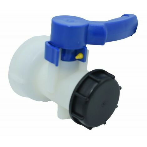 """Vanne pour cuve IBC 1000 litres 2"""" / 60 mm Vanne papillon intégrée en plastique DN40 (60 mm)"""