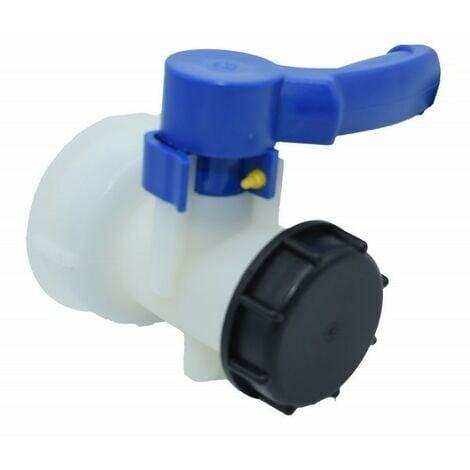 """Vanne pour cuve IBC 1000 litres 2"""" / 62 mm Vanne papillon intégrée en plastique DN40 (62 mm)"""