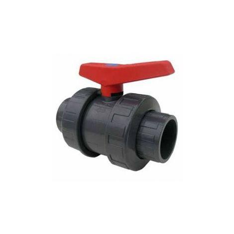 VANNE PVC A BOISSEAU à coller - D63 mm (PN16)