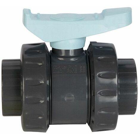 vanne pvc astore double union à coller 50mm pn16 - ast50 - astore
