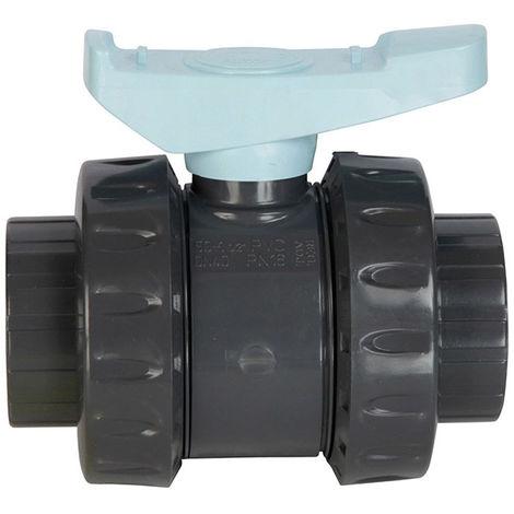 vanne pvc astore double union à coller 63mm pn16 - ast63 - astore