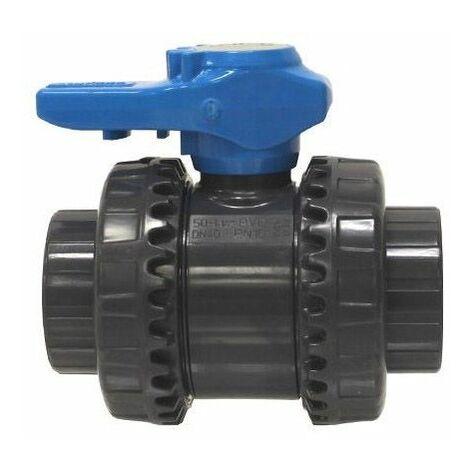 vanne pvc fip double union à coller 32mm - vib32c - fip
