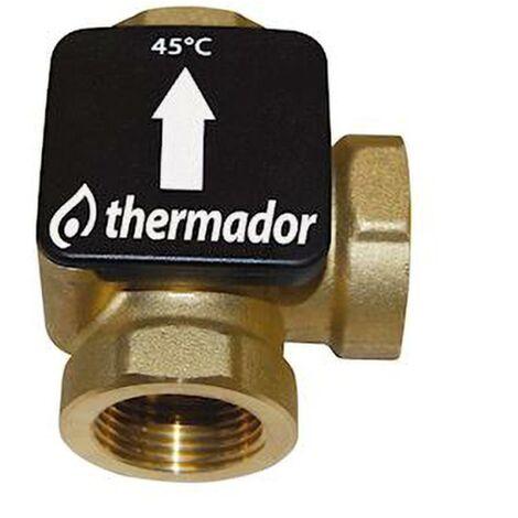 """Vanne thermique TERMOVAR pour chaudière à bois - Raccordement : 1"""" 1/4 - température de consigne : 61° C"""