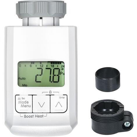 Vanne thermostatique du radiateur ecran LCD Controle de la temperature ambiante Controle de la temperature de la climatisation (livresans piles)