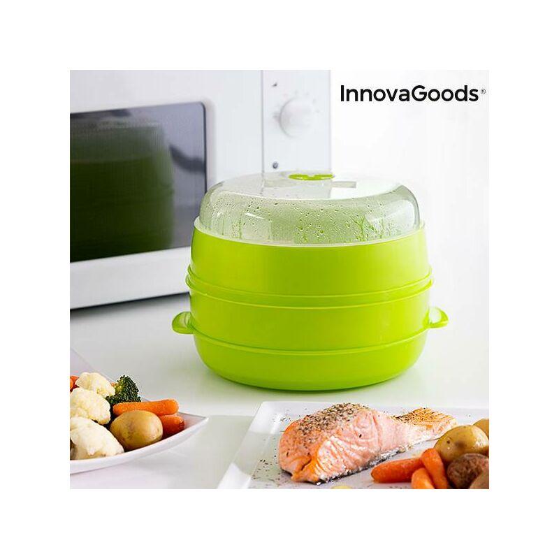 Vaporera Doble para Microondas Fresh - Innovagoods