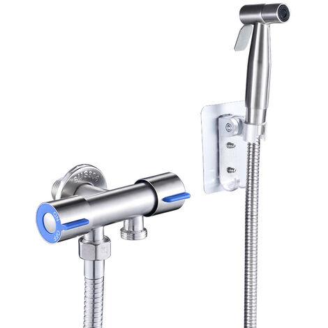 Vaporisateur de Toilette Douchette à Main Bidet en Acier Inoxydable parfait pour Hygiène personnelle Soins de nettoyage..