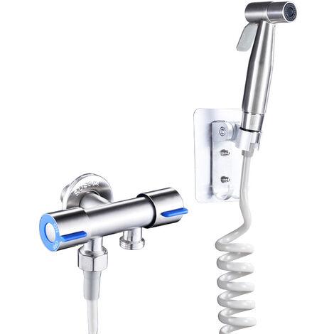 Vaporisateur de Toilette Douchette à Main Bidet en Acier Inoxydable parfait pour Hygiène personnelle, Soins de nettoyage