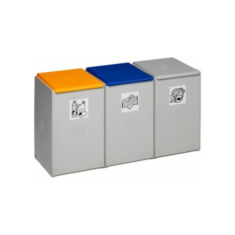 VAR Wertstoff-Trenn- und Sammelbehälter - als 3-fach Sammelstation - für 60 l,