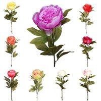 Vara flor Peonia artificial. Realista de tela. Altura 70 cm. Ø flor 12 cm