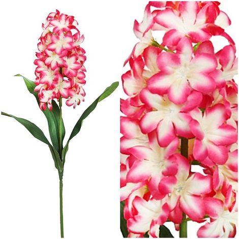 Vara ramo flor Jacinto artificial. Realista de tela. Altura 65 cm. Color Rosa