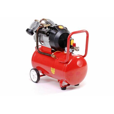 Varan Motors - 184015 Compresor de aire de doble cilindro 50L 3CV 2.2KW, 250 l/Min.