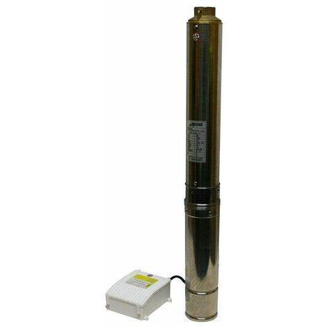 Varan Motors - 4STM3-10 Pompe à eau immergée pour puits profonds et forage, 4m³/h - 80m, 750Watt - Gris