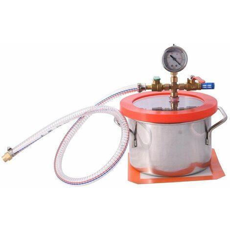Varan Motors - 573-032a Chambre sous vide 2 L acier inoxydable Récipient à vide Cuve à vide inox - Gris