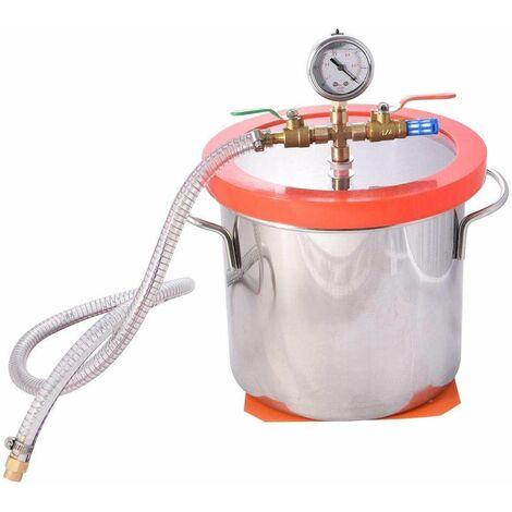 Varan Motors - 573-032b Chambre sous vide 7.6 L acier inoxydable Récipient à vide Cuve à vide inox - Gris